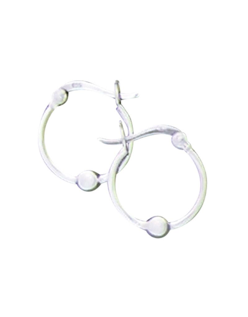 15mm Bead Hoop Earrings
