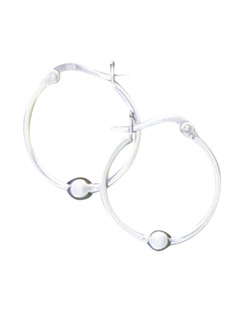 25mm Bead Hoop Earrings