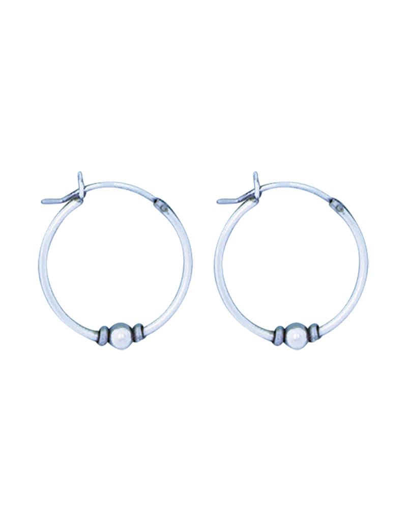 Bali Bead Hoop Earrings 20mm