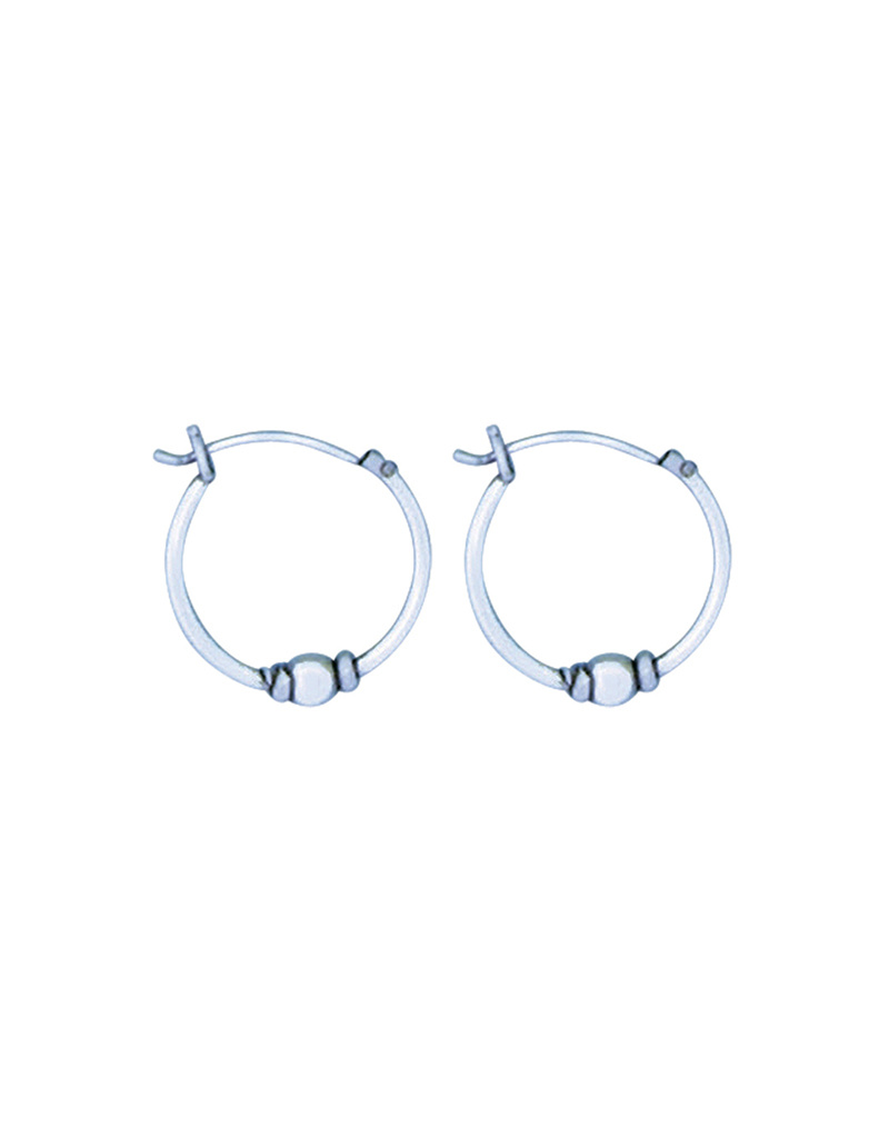 Bali Bead Hoop Earrings 16mm