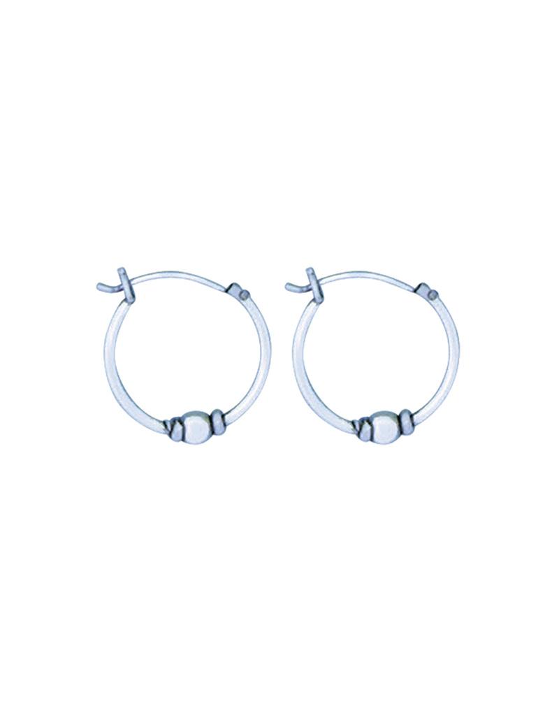 Bali Bead Hoop Earrings 16mm