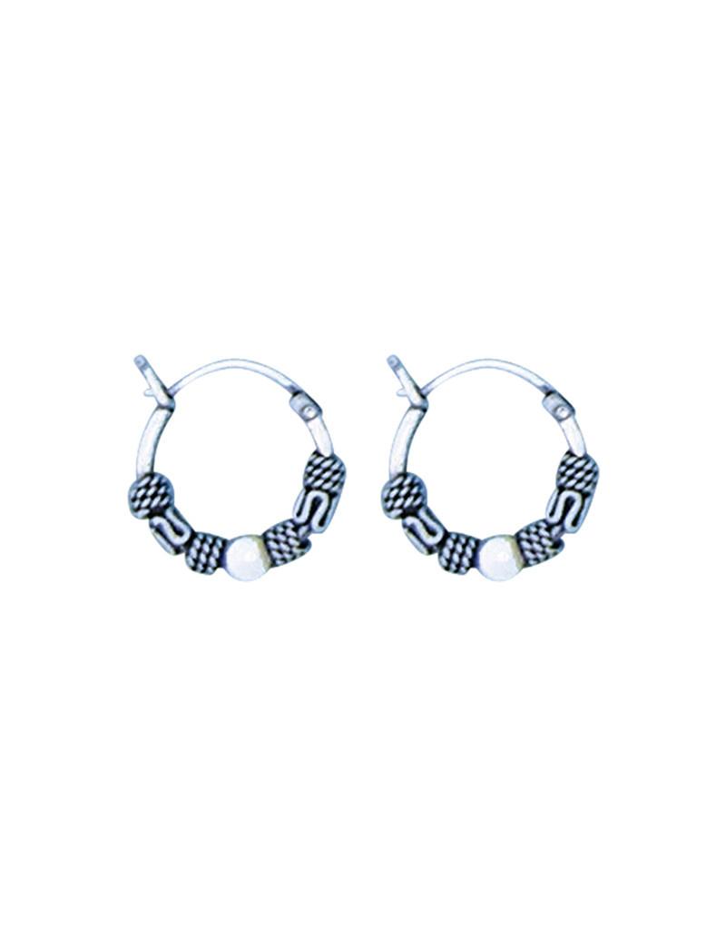 Bali Hoop Earrings 12mm