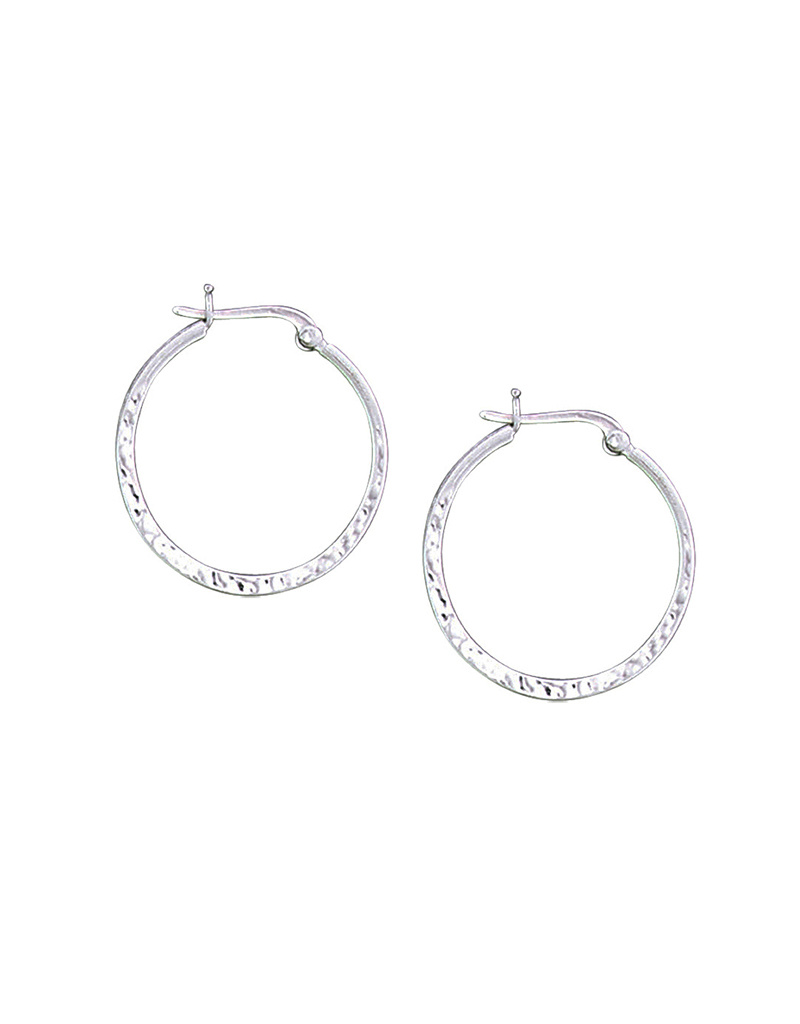 28mm Hammered Hoop