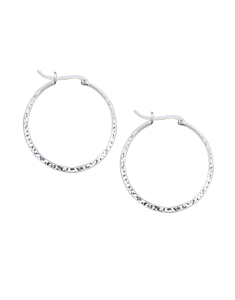 36mm Hammered Hoop