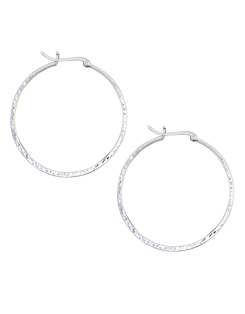 48mm Hammered Hoop