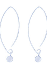 Sterling Silver 5mm Dangle Bead Wire Threader Earrings
