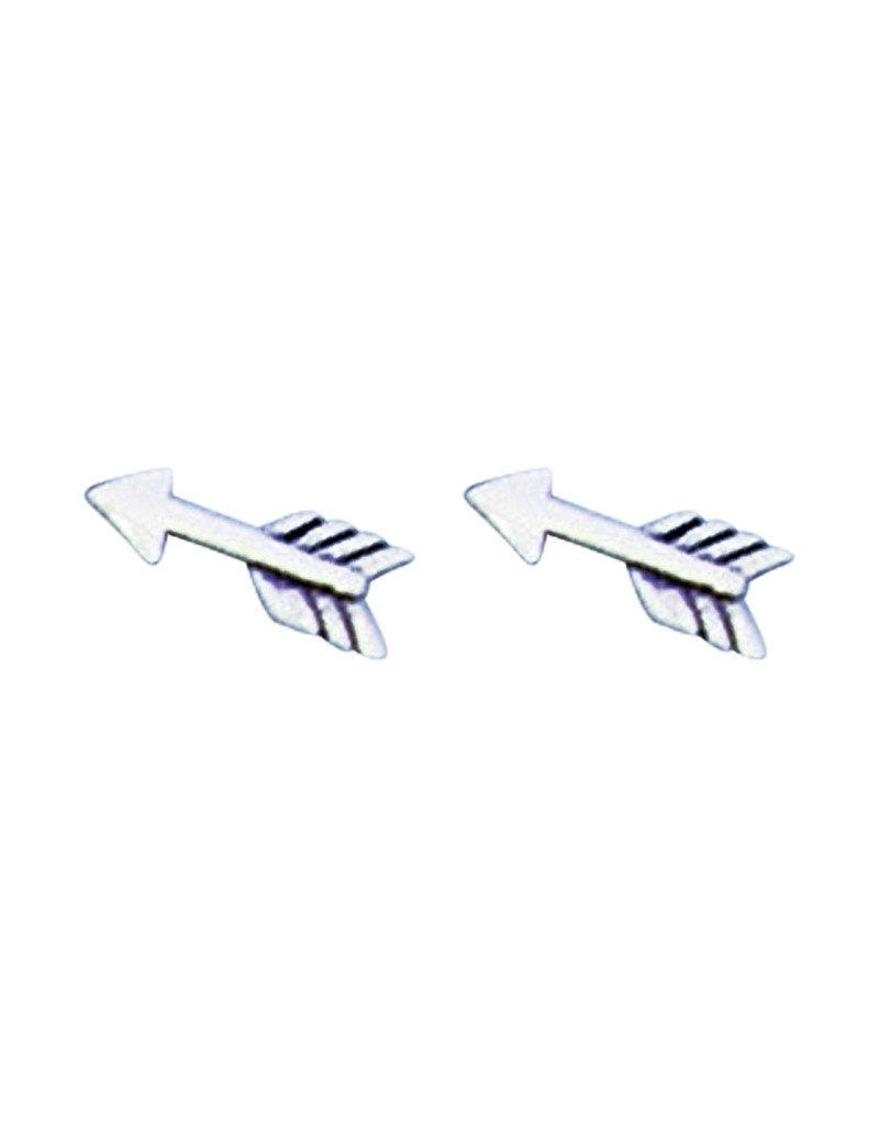 Sterling Silver Arrow Stud Earrings 10mm