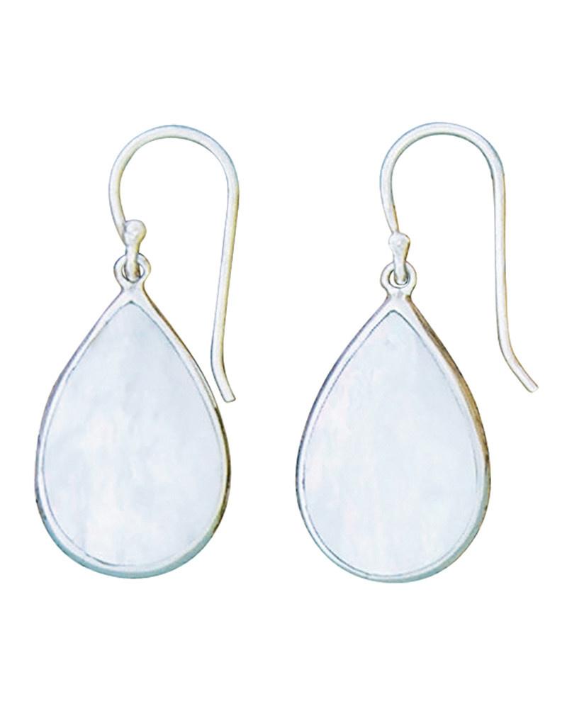 Teardrop Mother of Pearl Earrings 24mm