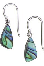 Sterling Silver Abalone Earrings 16mm