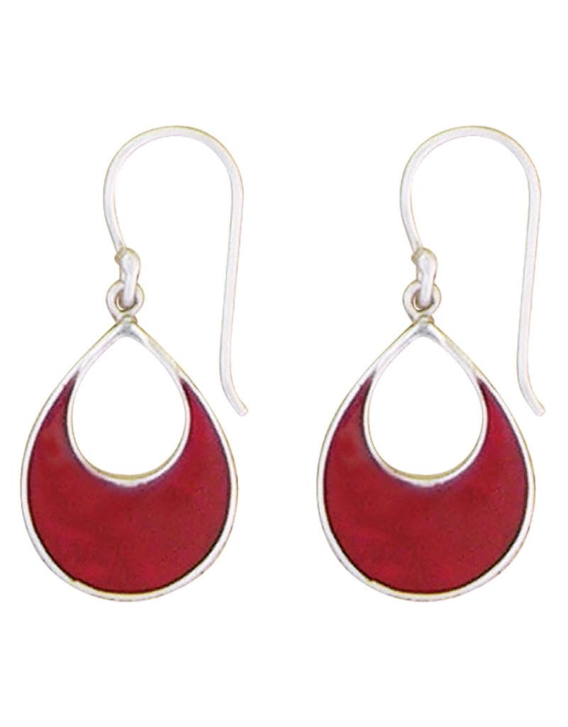 Teardrop Coral Earrings 21mm