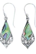 Sterling Silver Abalone Earrings 23mm