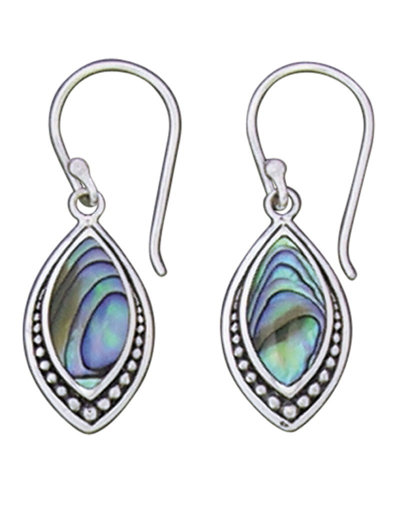 Marquise Abalone Earrings 20mm