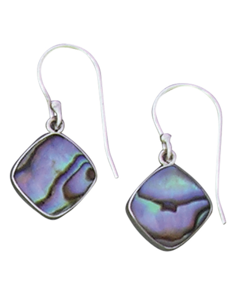 Cushion Abalone Earrings 12mm