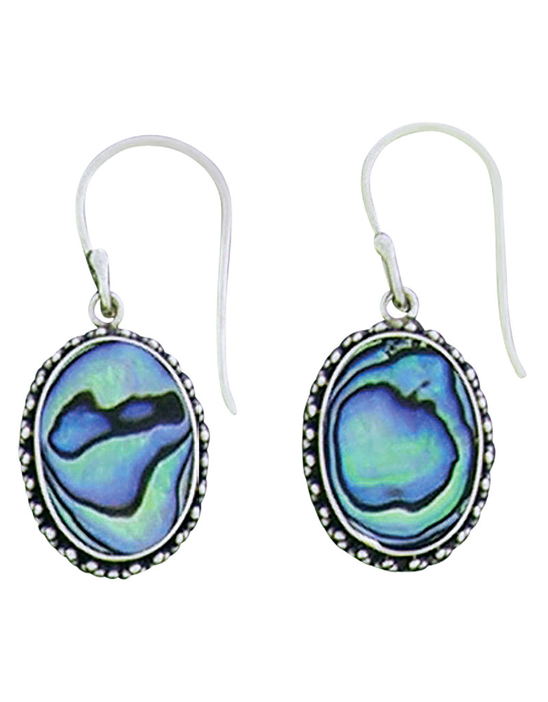 Oval Abalone Earrings 17mm