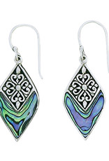Sterling Silver Abalone Earrings 25mm