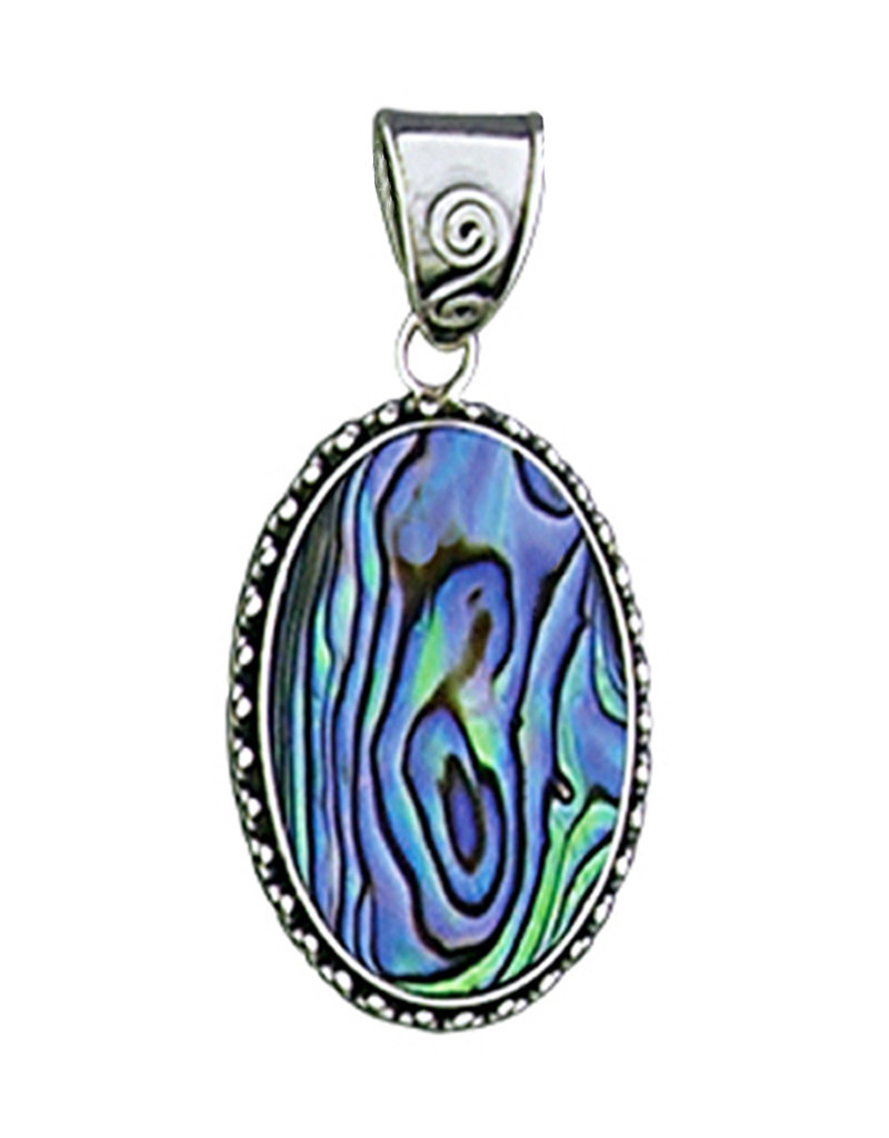 Oval Abalone Pendant 24mm
