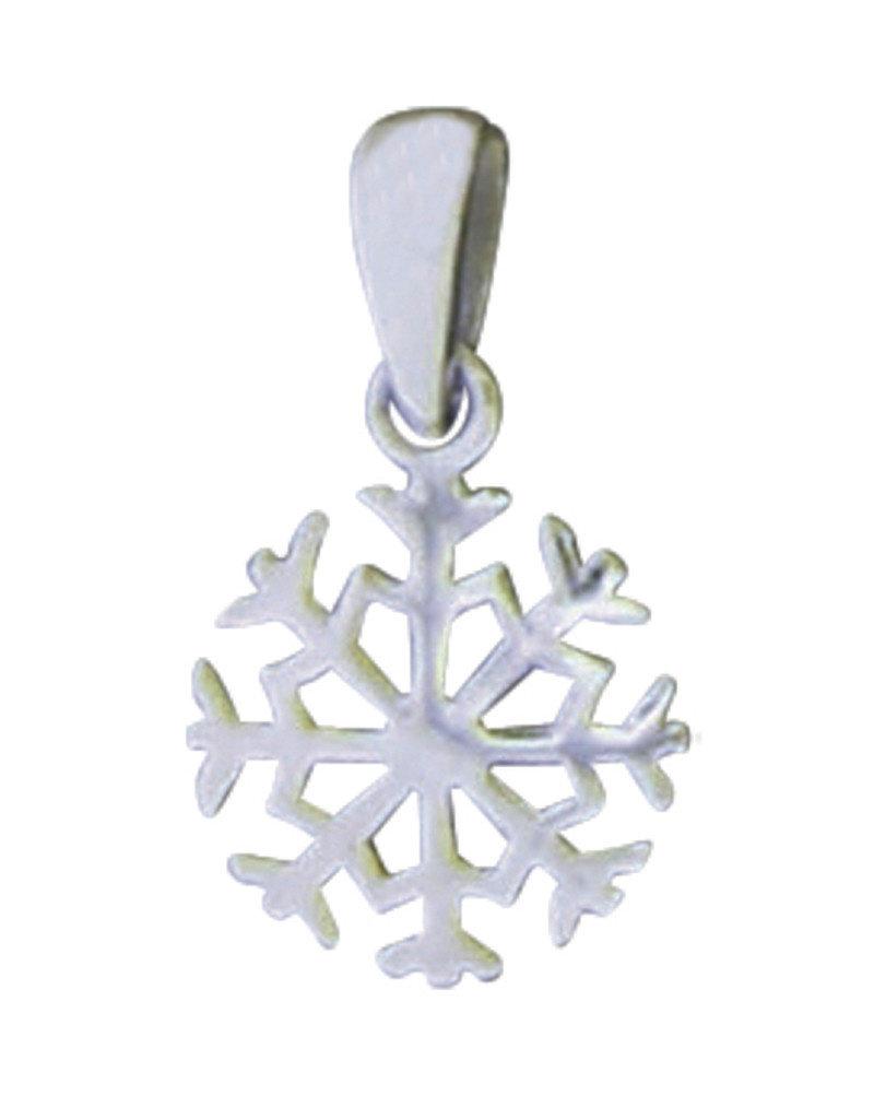 Sterling Silver Snowflake Pendant 13mm