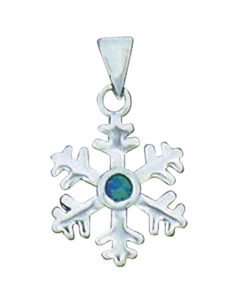 Opal Snowflake Pendant 15mm