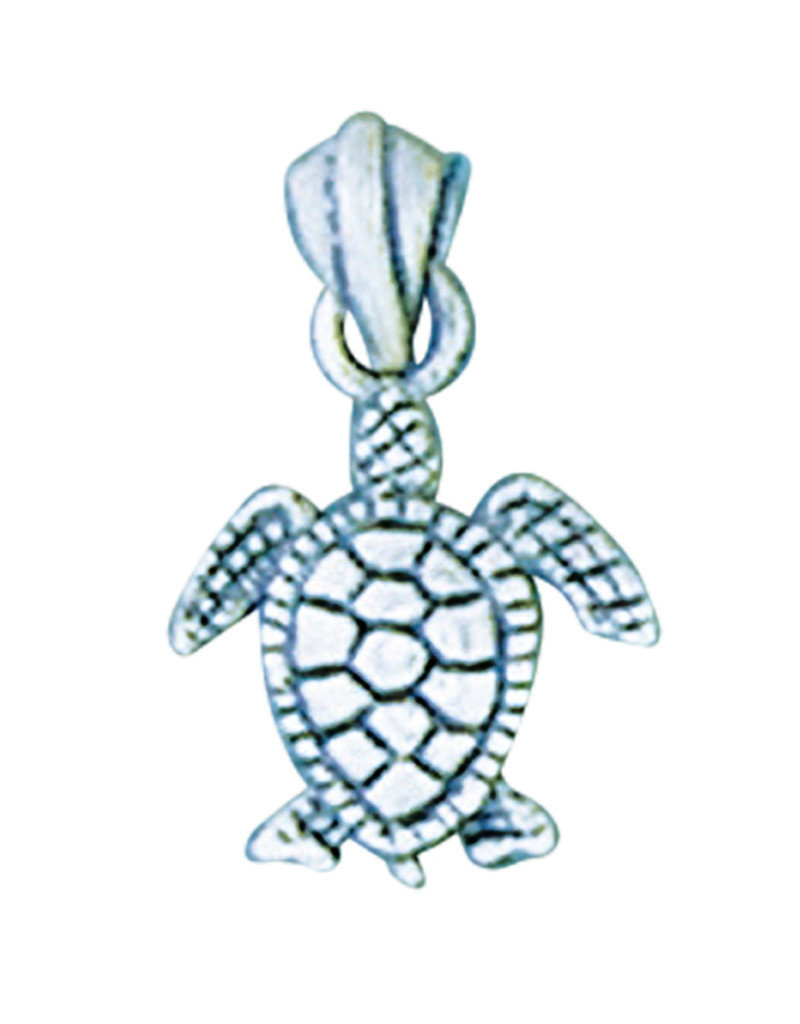 Sterling Silver Turtle Pendant 13mm