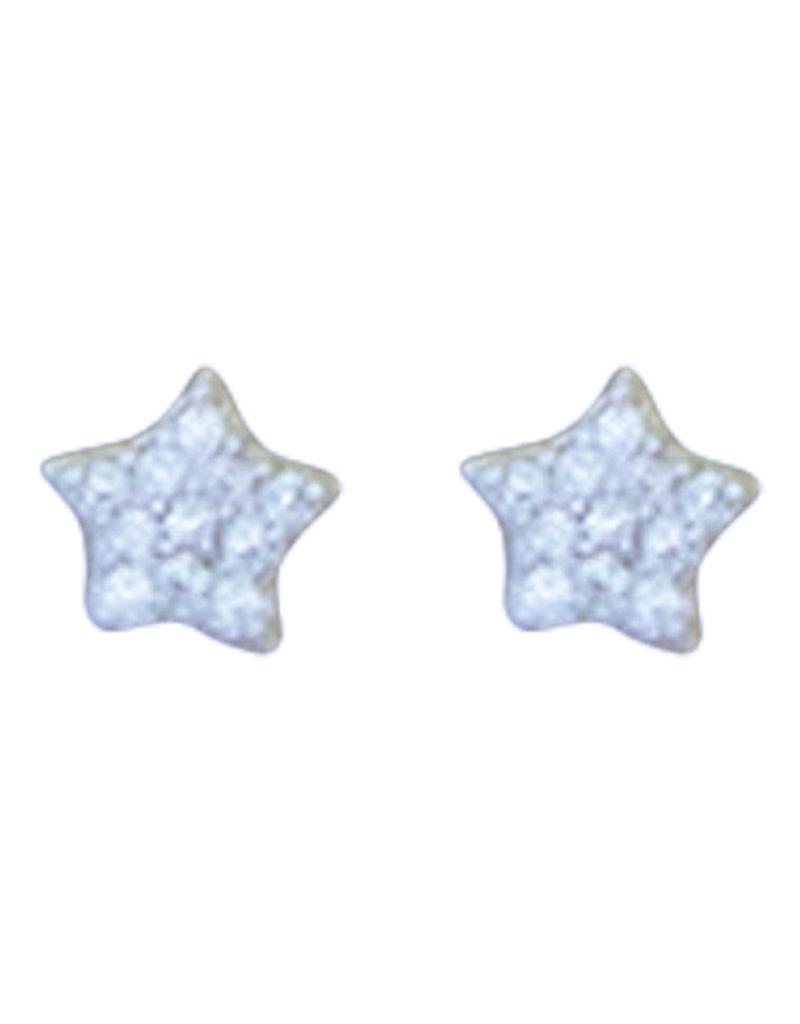 Small Star CZ Stud Earrings 5mm
