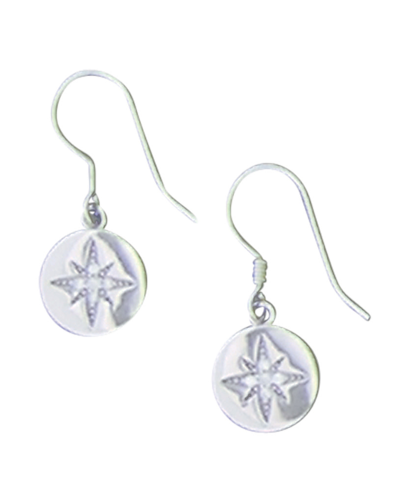 North Star CZ Earrings 10mm