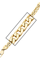 """Men's Gold Stainless Steel Curb Chain Link Bracelet 8.5"""""""