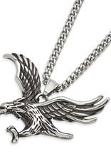 Men's Stainless Steel Eagle Necklace 24""