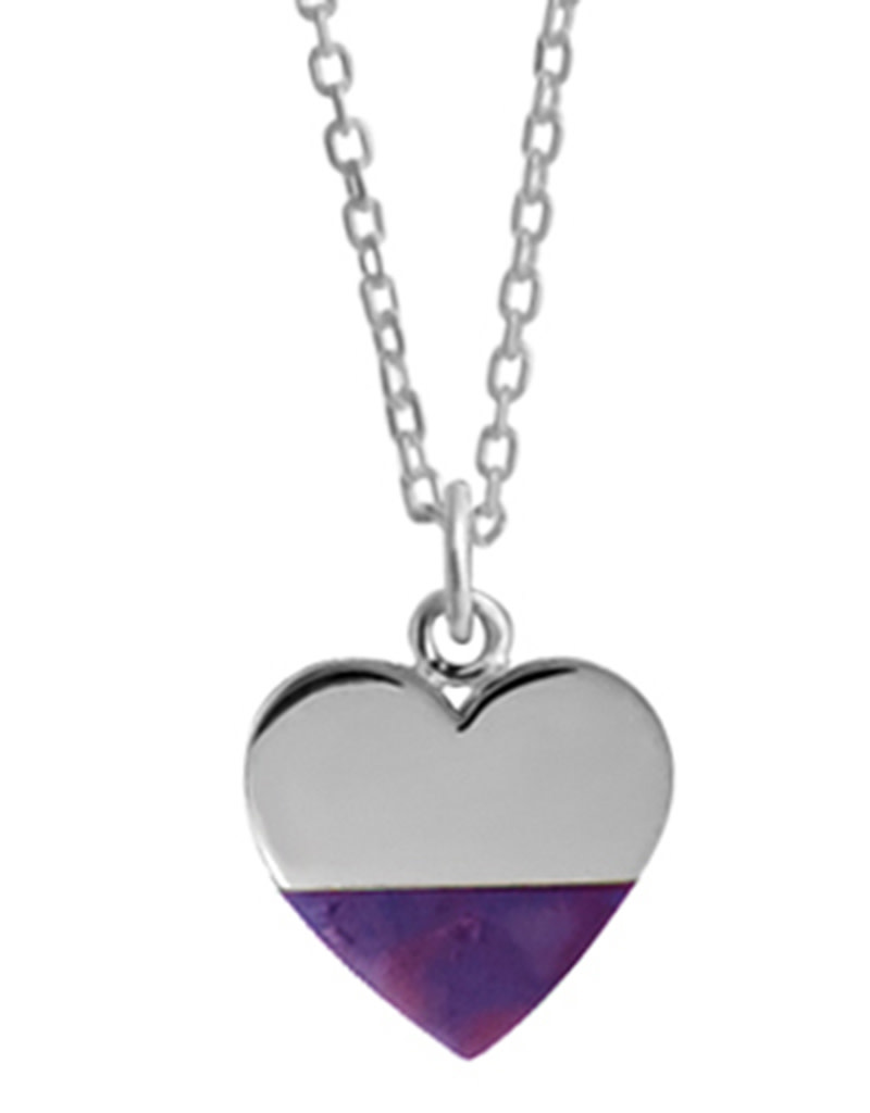 Purple Turquoise Heart Necklace