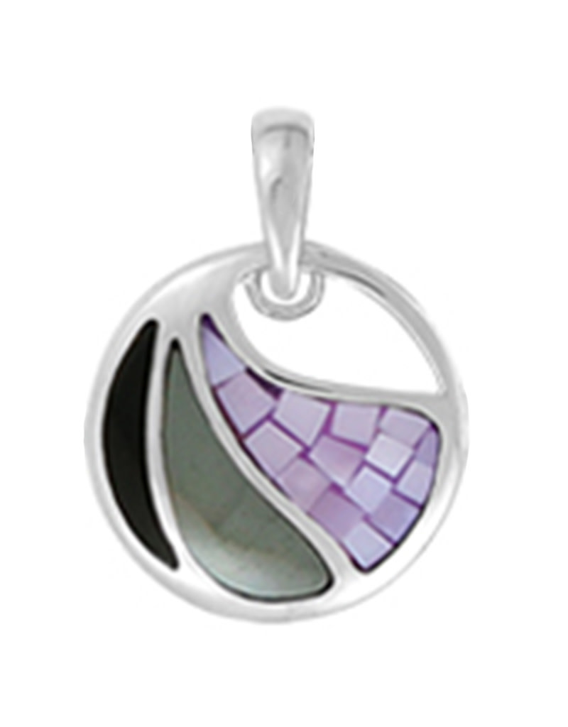 Black and Purple MOP Pendant
