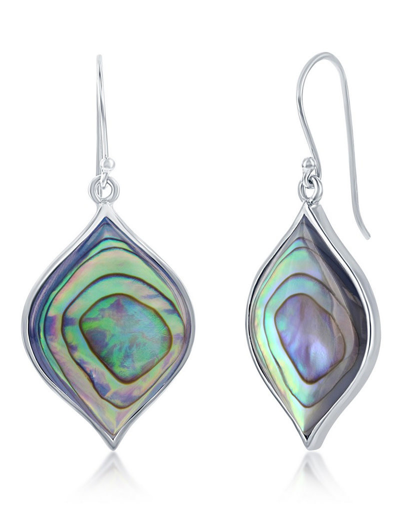 Sterling Silver Abalone Earrings 26mm