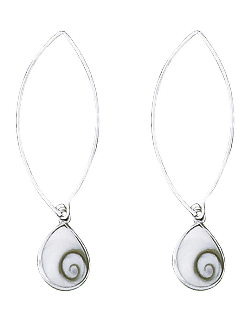 Teardrop Shiva Long Wire Earrings 13mm