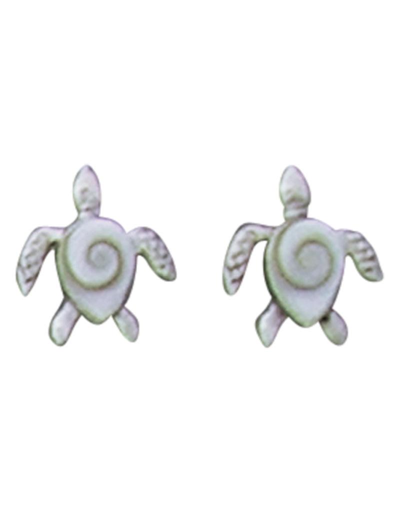 Shiva Shell Turtle Stud Earrings 11.5mm