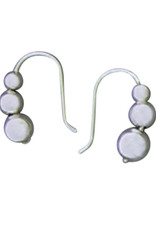 Sterling Silver 3-Ball Drop Earrings