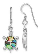 Sterling Silver Abalone Turtle Earrings