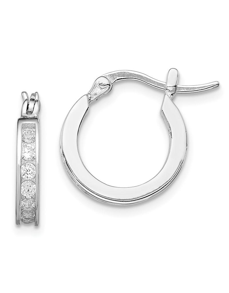 CZ Hoop Earrings 15mm