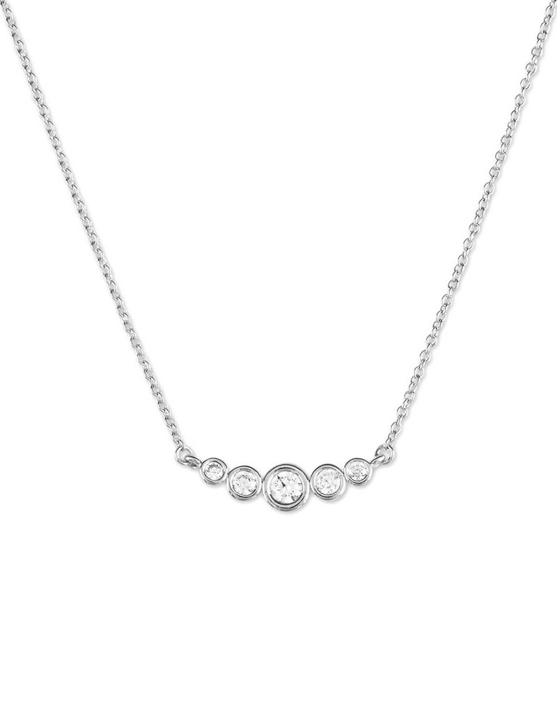 Curved Graduated CZ Necklace