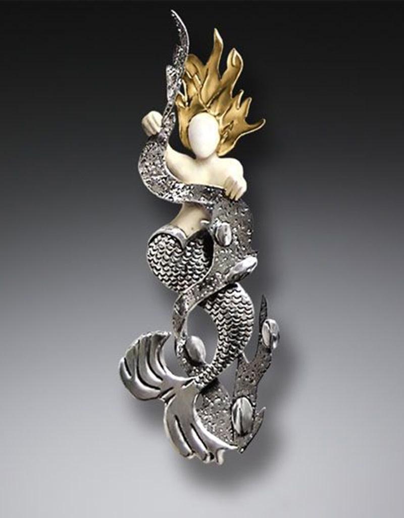 ZEALANDIA Mermaid in Kelp Pendant