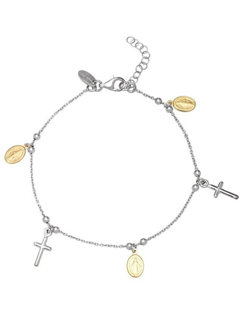 "Cross Medals Bracelet 7""+1"""
