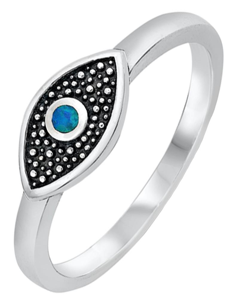 Opal Evil Eye Ring