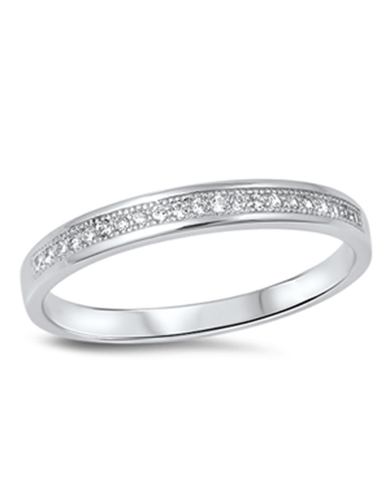 Pave CZ Band Ring