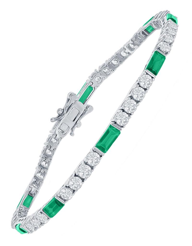 Emerald CZ Tennis Bracelet