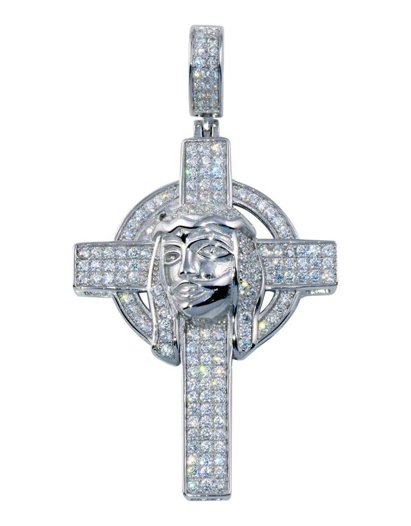 Pave CZ Crucifix Pendant