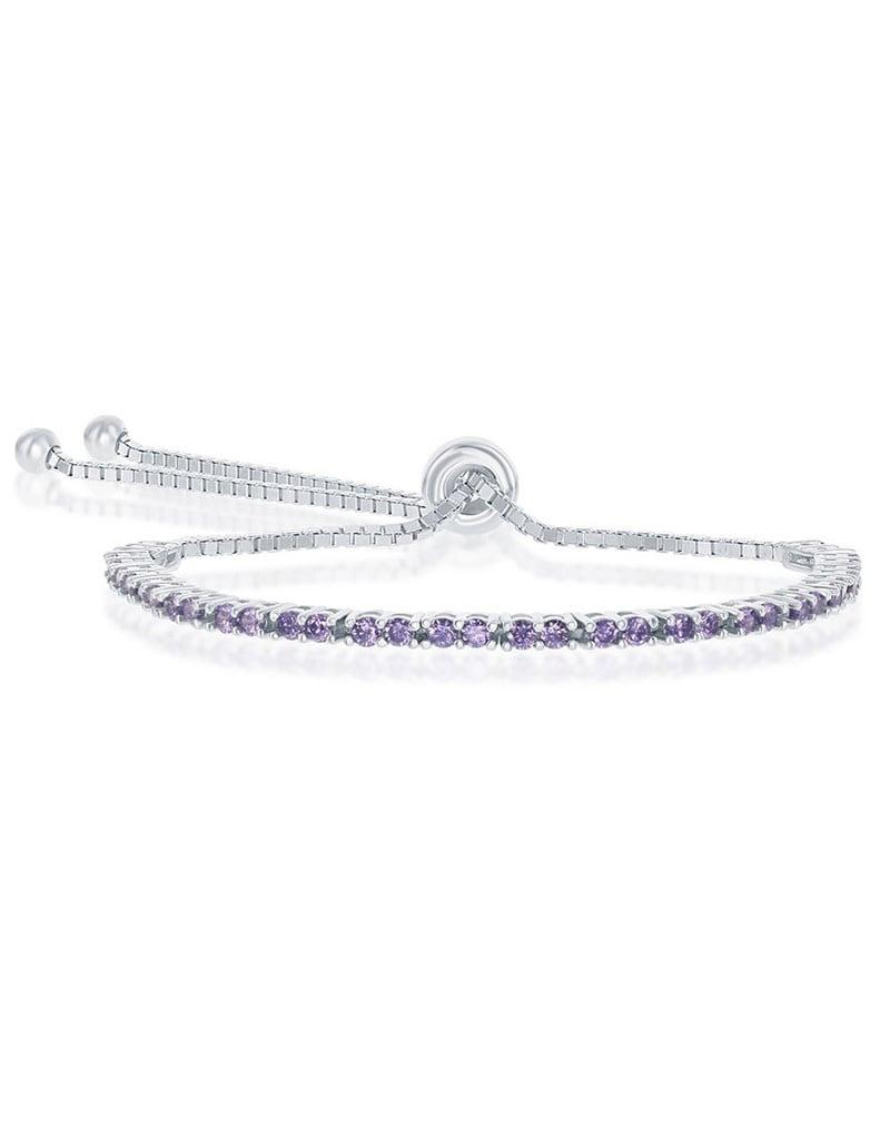 2mm Purple CZ Bolo Tennis Bracelet