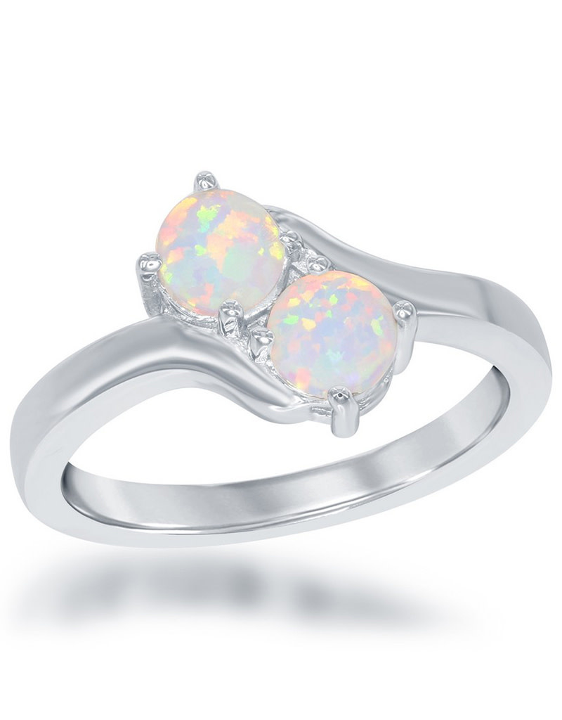 Two Stone Opal Ring