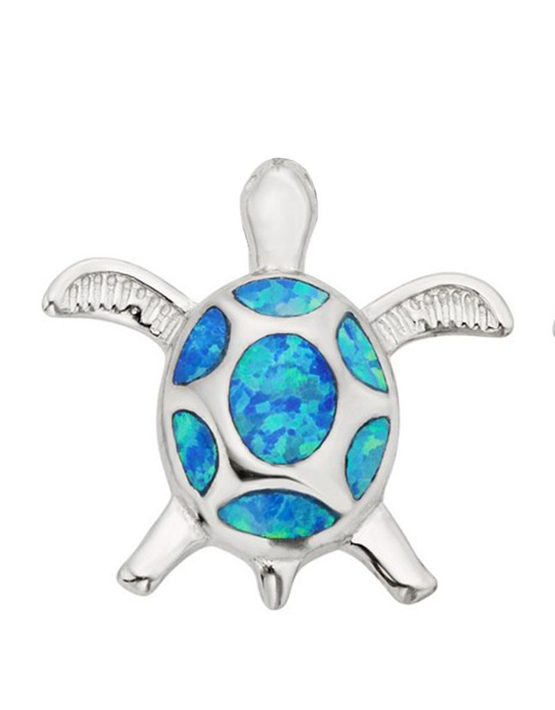 Turtle Blue Opal Pendant 18mm