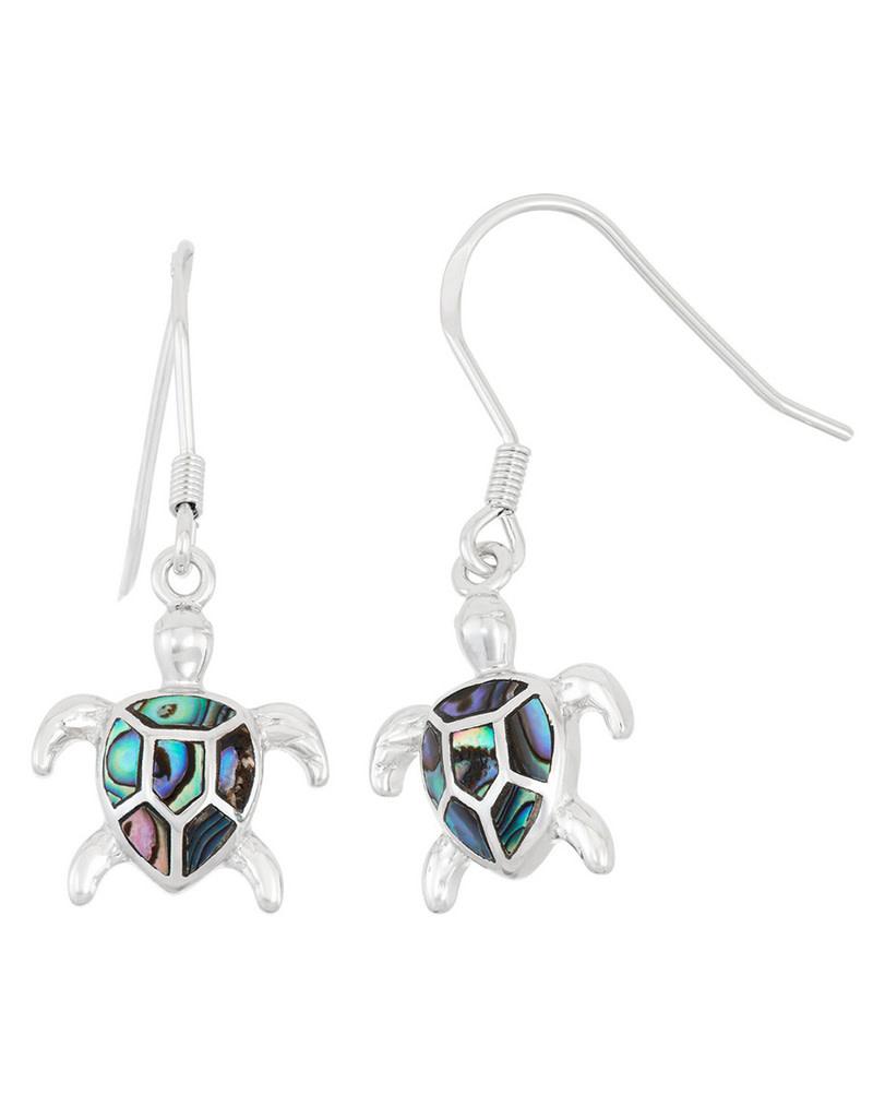 Turtle Abalone Earrings 15mm