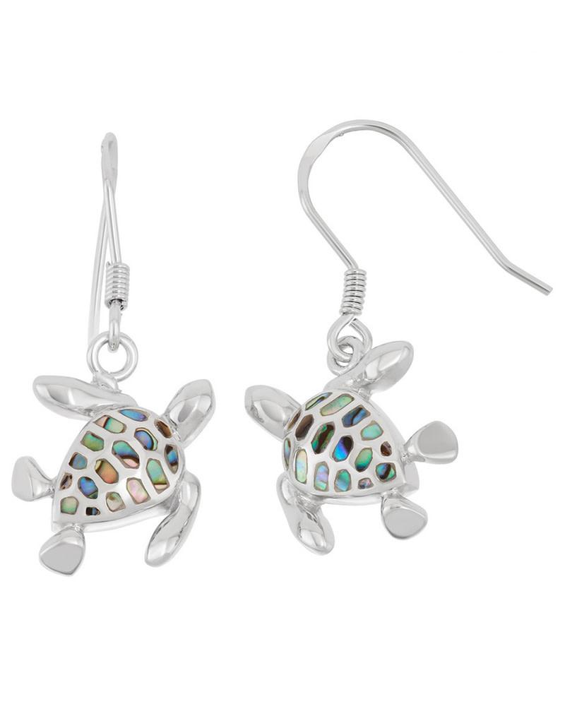 Turtle Abalone Earrings 18mm