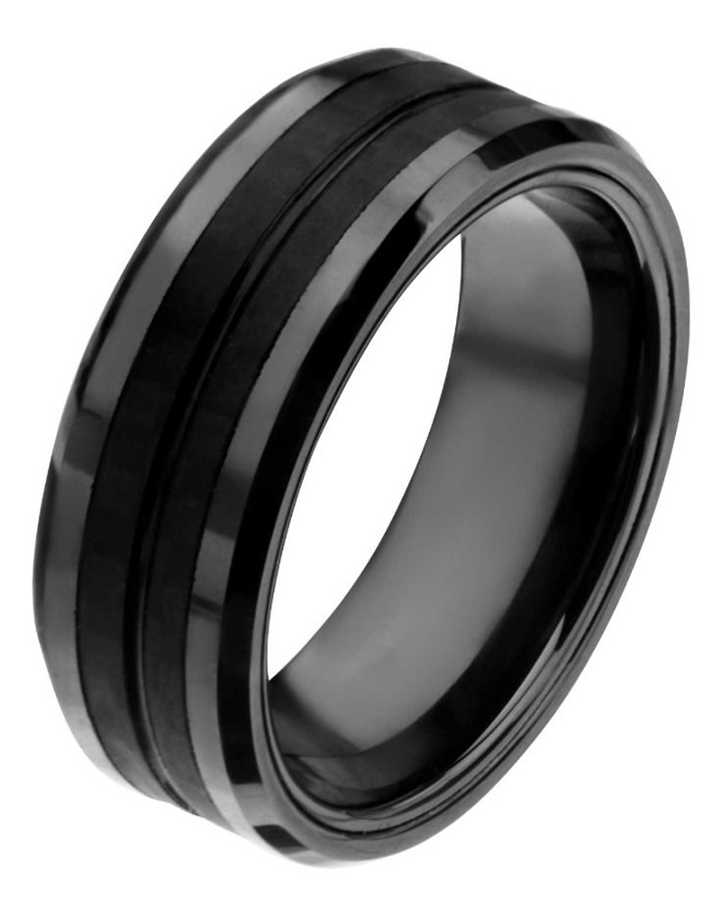 Steel Black Carbon Band