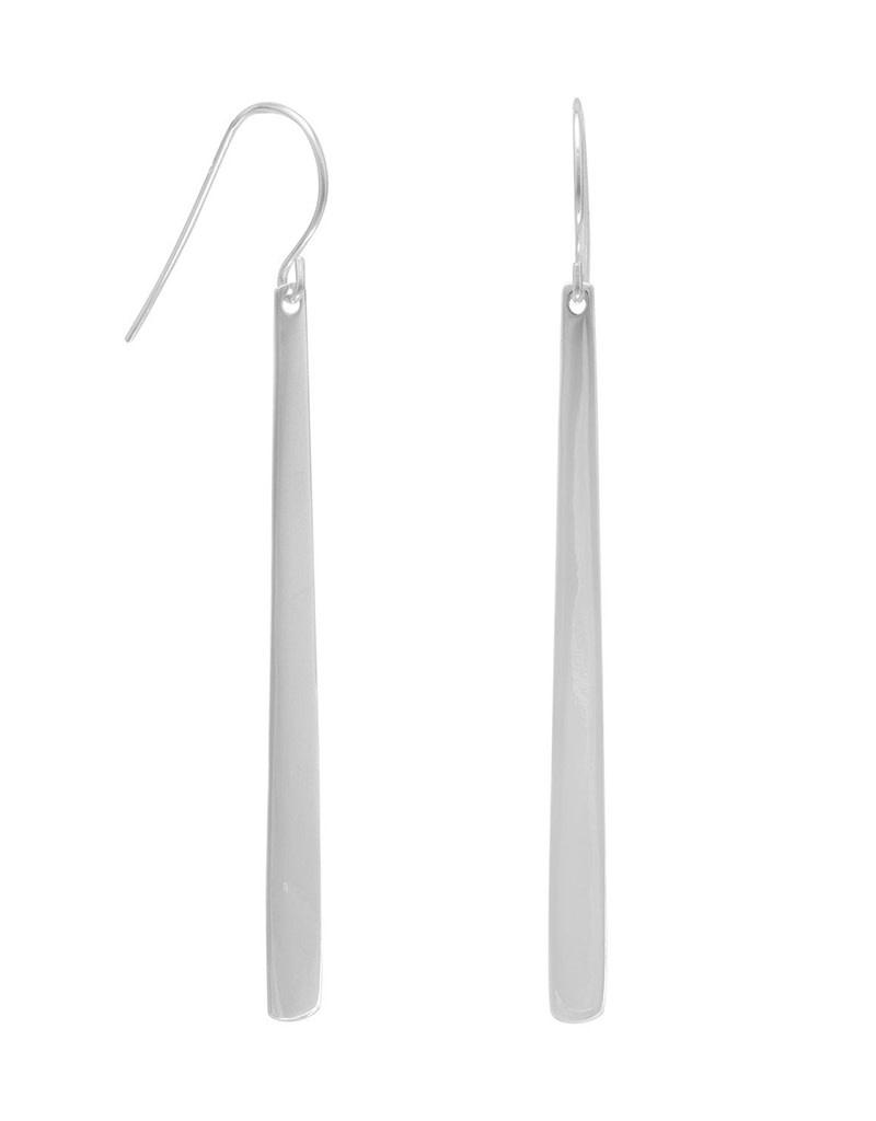 Long Tapered Bar Earrings