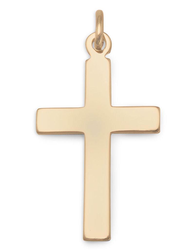 14k Gold Filled Cross Pendant 22mm